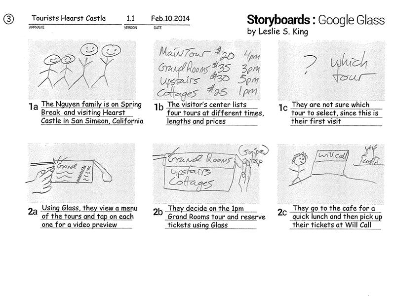 Google Glass storyboards