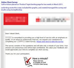 Client Survey request