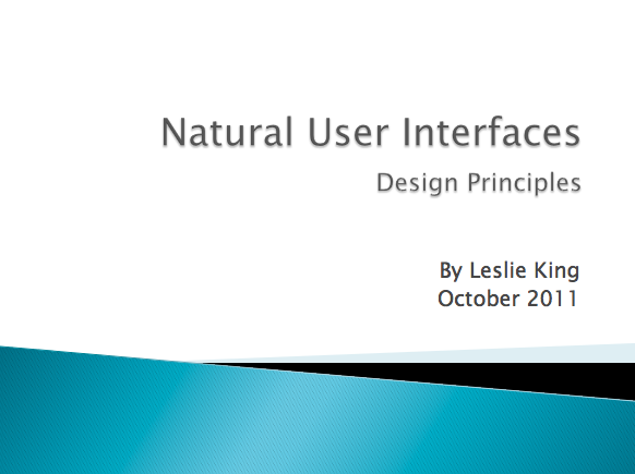 Natural User Interfaces presentation