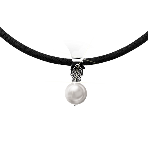 Black Colori Pearl Necklace
