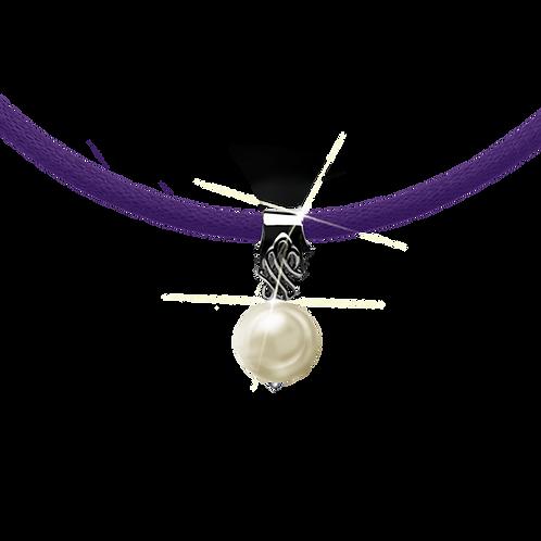Purple Colori Pearl Necklace