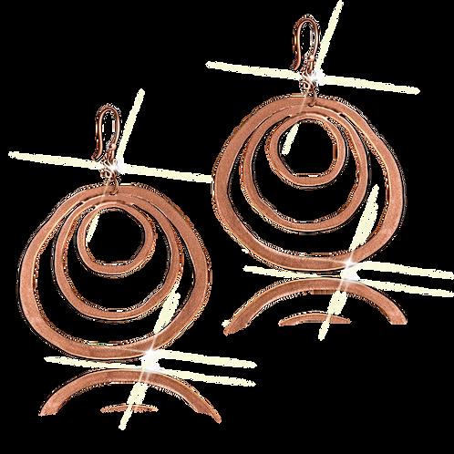 Astralis Flat Earrings Rose