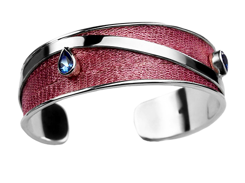 Bracelet Nouveau Pink with Smoky Topaz