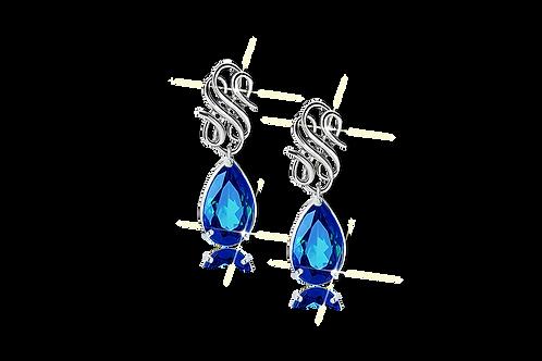 Emblem Legacy Drop Earrings Blue
