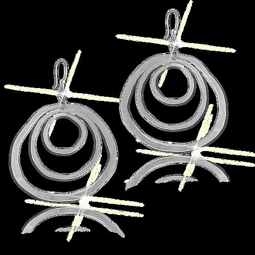 Astralis Silver Flat Earrings