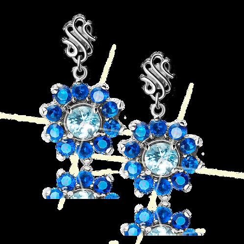 Starry Night Earrings Topaz