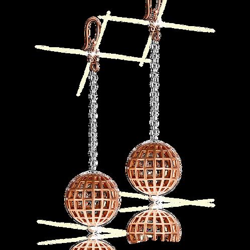 Astralis Sphere Earrings Rose