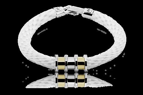Pulsera Verricello Albus White con oro