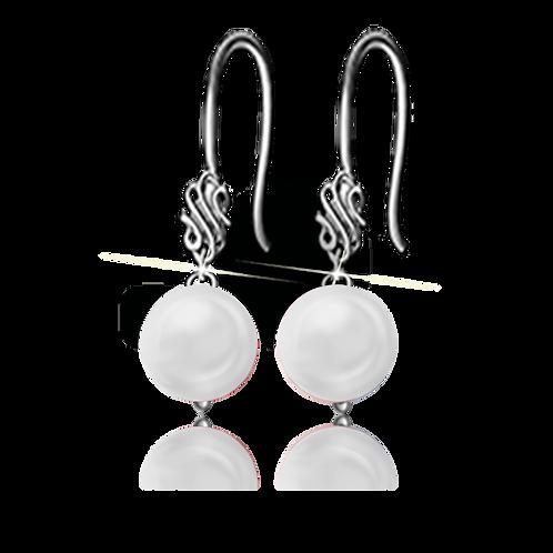 White Colori Pearls Earrings