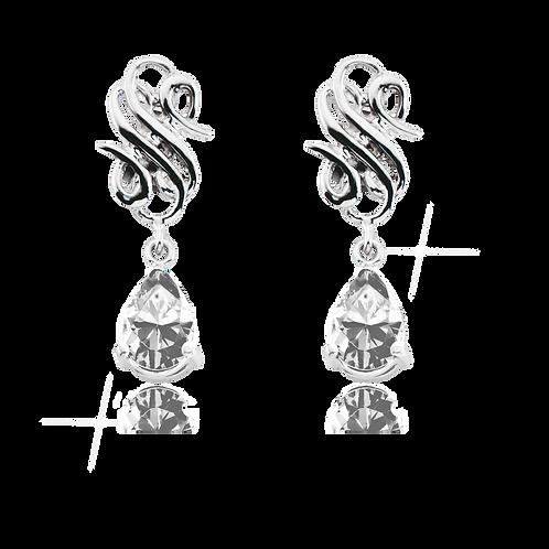 Emblem Legacy Drop Earrings White