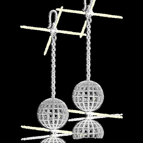 Astralis Silver Sphere Earrings