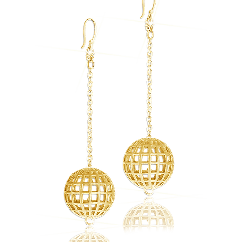 Astralis Gold Sphere Earrings