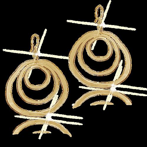 Astralis Gold Flat Earrings