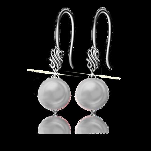 Grey Colori Pearl Earrings