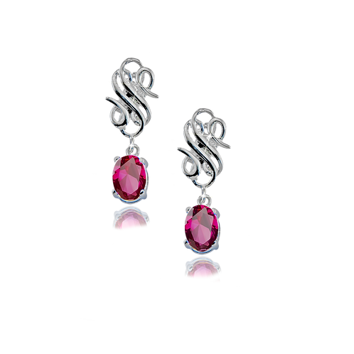 Emblem Legacy Earrings Red