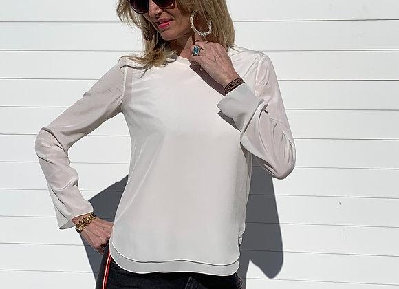 Chloe white silk shirt new  with tags siz s