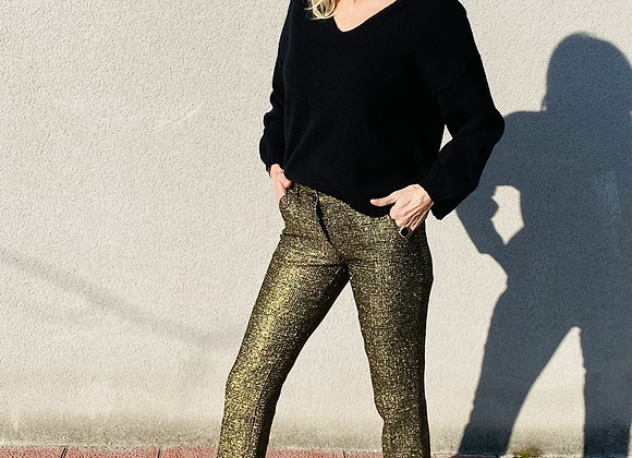 Etro gold pants size 36 italy preowner