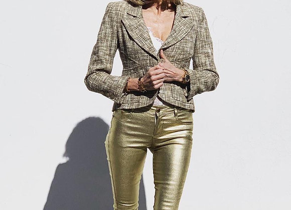 Chanel short tweed jacket size 38fr