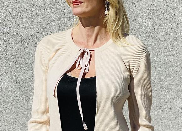 Chanel cardigan wool beige