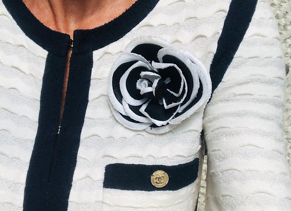 Chanel cammellia black and white brooch, never worn