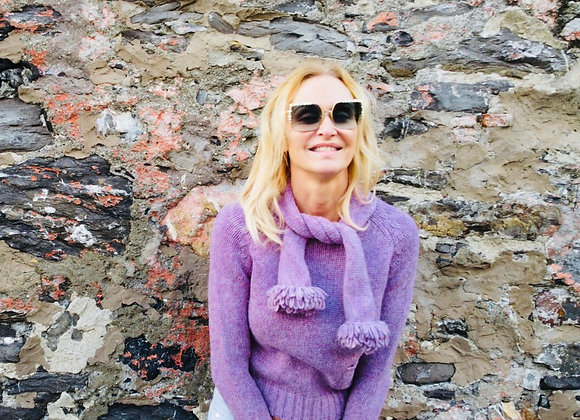 Chanel violet sweater with pocket from