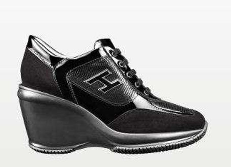 Hogan lace up black preowner like new with box size 39'5