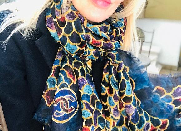 Chanel foulard 100% 100 cashmire new