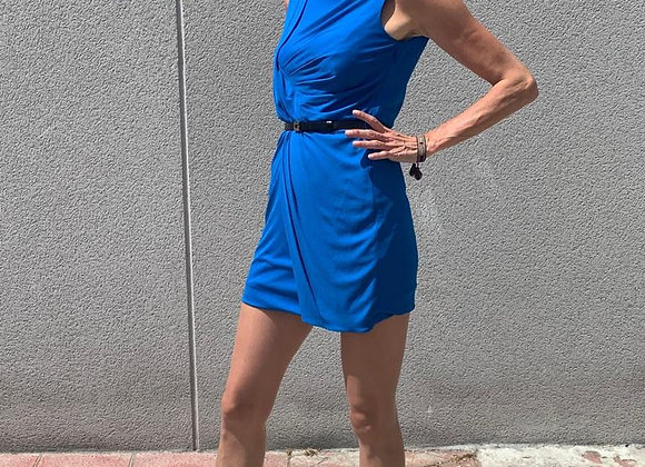 Gucci blue dress with black belt ,from runway size s