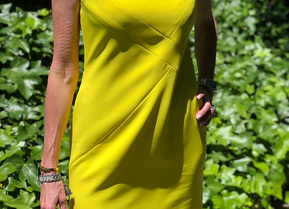 Versace yellow dress preowner size 40,good condition