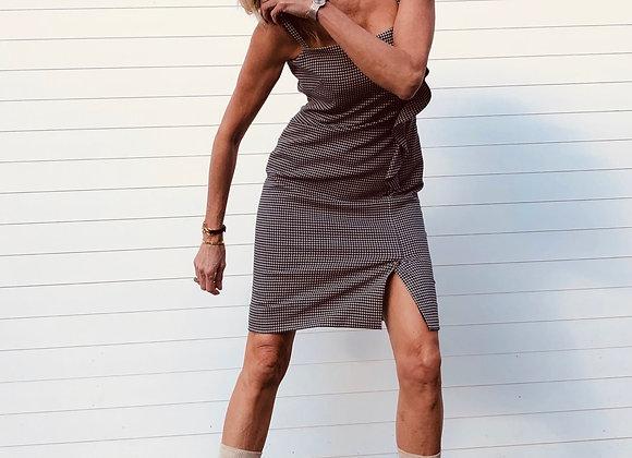 Valentino wool dress size m princes of wales new