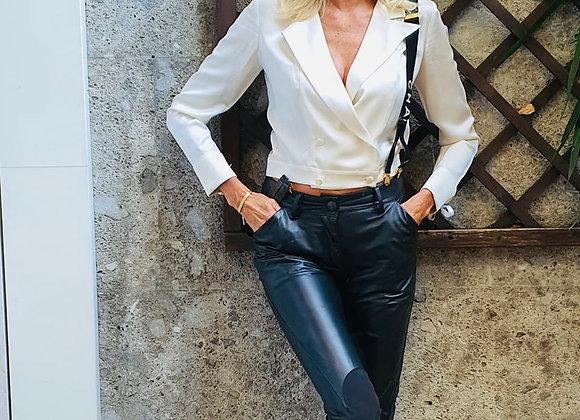 Vivien westwood black leather pants