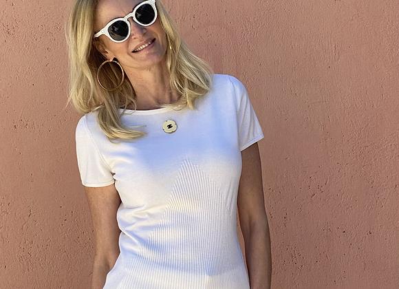 Chanel white tshirt 40 italy