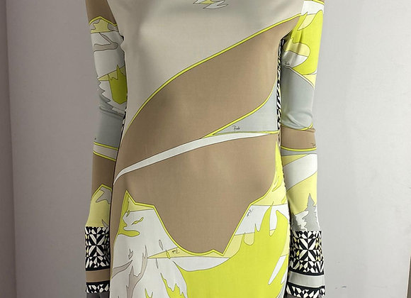 Emilio pucci silk  print dress size 40 italy