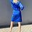 Thumbnail: Ysl suit  electric blue Preowner