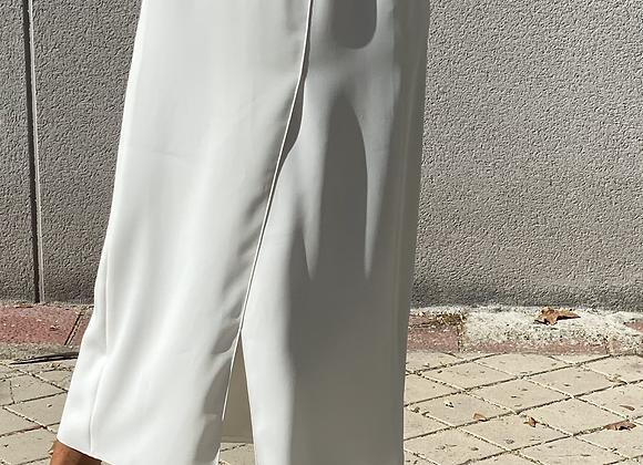 Chanel white long skirt