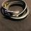 Thumbnail: Hermes behapi black bangle with box
