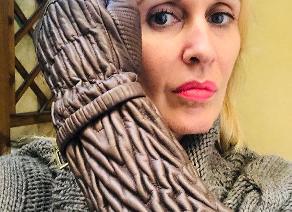 Prada toupe long  leather gloves size m