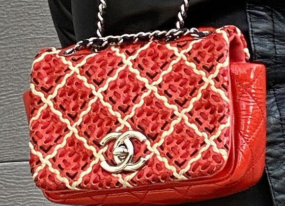 Chanel mini patent leather limited  edition bag
