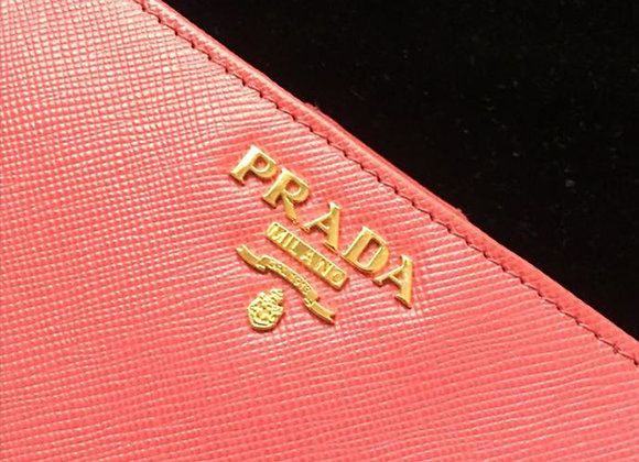 Prada Coral leather wallet preowner