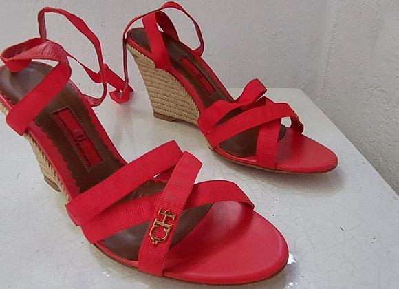 Carolina herrera red sandals new size 38