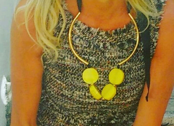 Marni yellow necklace new with box
