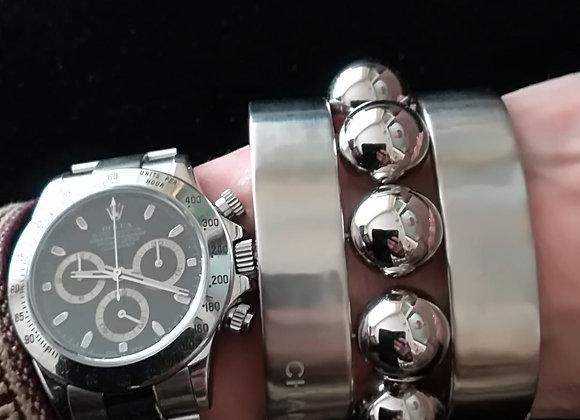 chanel bracelet silver limited edition size m