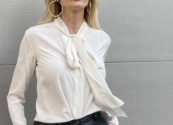 Chloe off white silk shirt
