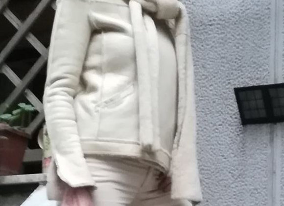 Chanel shearling beige size s preowner