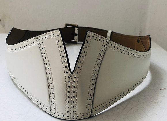 Alaia white leather belt size 80cm