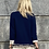 Thumbnail: Chanel cardigan blue  with pearl