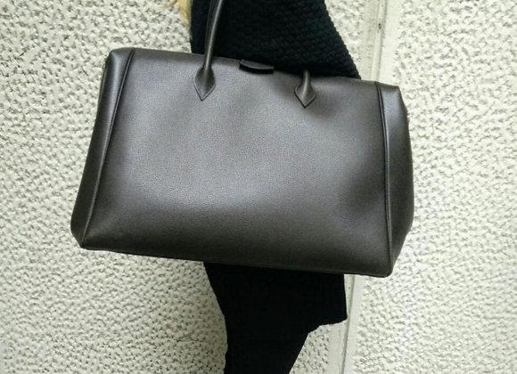 Hermes Bombay brown dark weekend bag