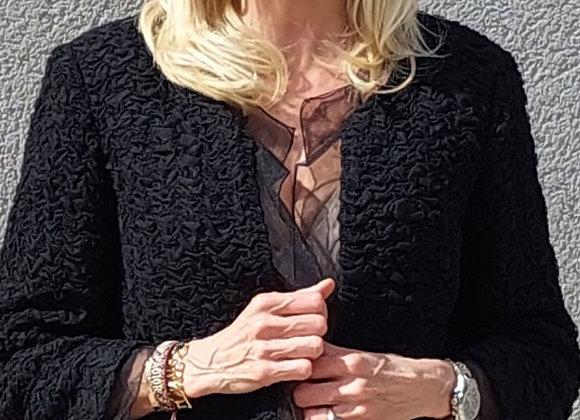 Chanel black lacel jacket,size m