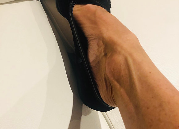 Ysl black velvet shoes 38'5 penny loafer pumps preowner perfect condition