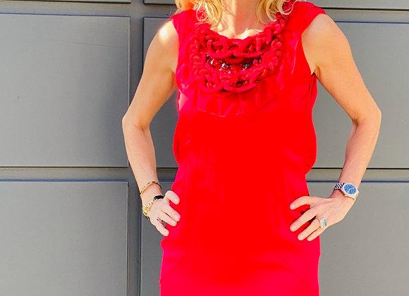 Valentino red silk dress new